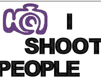 I shoot people embroidery design 7x5