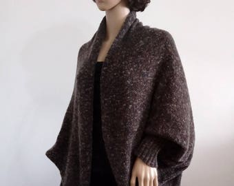 Cozy cardigan Batwing Wool oversized shrug for women fashionable clothes comfortable Boho Sweater Cocoon coat wrap jacket knit loose