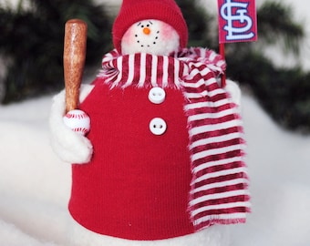 St. Louis Cardinals Fabric Snowman