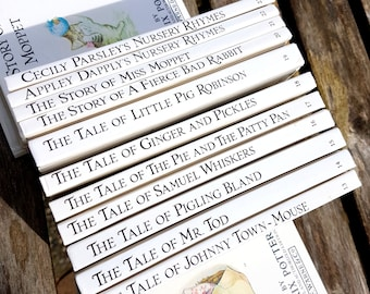 Beatrix Potter, set of 11, books 13 - 23, Vintage children'sbooks, hardcover collector books including Samuel Whiskers and Pigling Bland