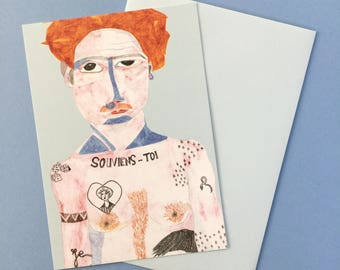 """Carte postale """"le tatoué"""""""