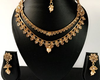 Indian two layer necklace set