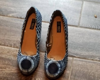 African Wax Print Shoes