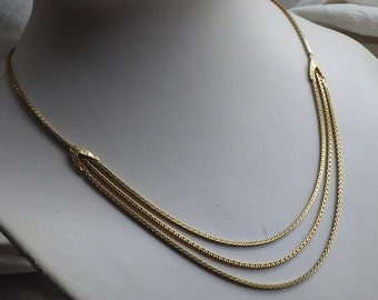 Dutch Vintage solid Yellow gold 14 K. Choker in Art Déco style