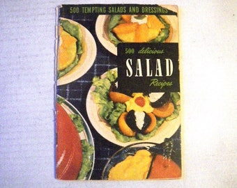 1950s 500 Delicious Salad Recipes Cookbook - includes Gelatin Jello