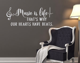 Music Notes Wall Decals Quotes Vinyl Lettering Where Words