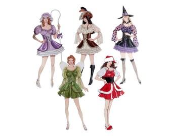 Bo Peep Costume, Pattern, Halloween Pattern,  Simplicity 4046, Witch Costume, Pirate Outfit, Santa Pattern