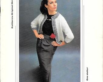 Pauline Denham Yarns Book 18, Classic Knitting and Crochet Patterns, Knitted Coat Pattern, Chanel Jacket Pattern, Crochet, Vintage Booklet