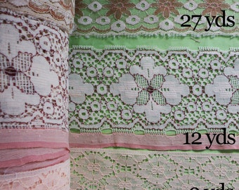 Lace Collection Over 48 yds Dressmaking Bridal Wedding Lingerie Beige Peach Tan