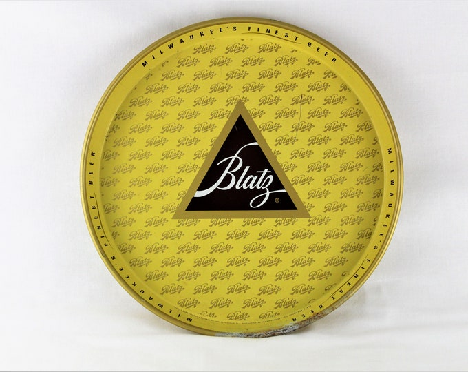 Vintage 1960s Blatz Beer Serving Tray