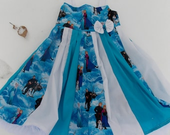 custom boutique twirl dress made with disney frozen fabric size 2-6