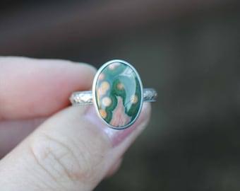 Ocean Jasper Ring, Size 6.5
