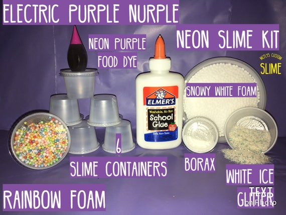 SLIME kit elmers glue PURPLE nurble SLIME kit free shipping rainbow ...