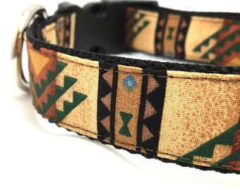 New Mexico Tribal Dog Collar | Personalized Dog Collar | Tribal Harness & Leash Set | Navajo Dog Collar | Boy Dog Collar | Girl Dog Collar
