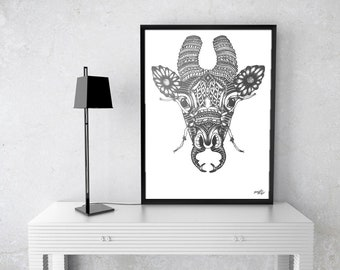 """11x14 Print of """"Giraffa Lucanidae"""" Signed and Numbered"""
