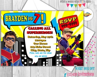 Henry Danger party invitations (set of 12)