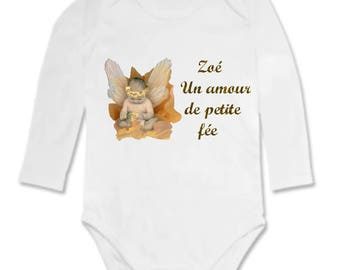 Personalized with name of fairy love Bodysuit