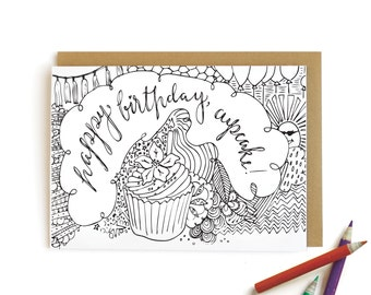 Cupcake Birthday - letterpress card