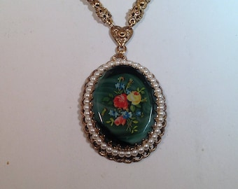 West Germany Flower Necklace