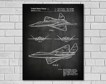 Military Decor - Aircraft Patent - Plane Art - Military Patent - Airplane Print - Military Poster - Fighter Patent Aircraft Blueprint VA080