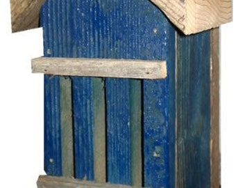 Recycled Materials Blue Butterfly House