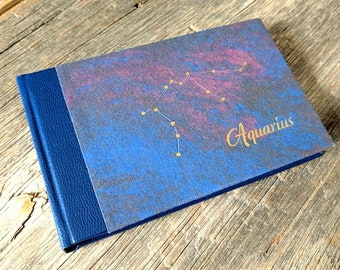 Aquarius Notebook - handbound journal
