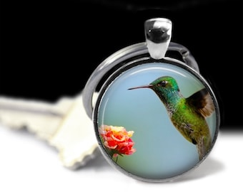 Humming Bird Jewelry Humming Bird Pendant Wearabel Art Bird Lovers Gift