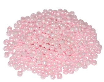 10gr (ref 85) 3mm glass Pearl Pink seed beads