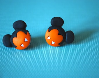 Halloween Mickey Mouse Earrings -- Vampire Mickey Mouse, Mouse Ears, Halloween Earrings