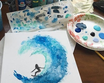 Surfer Painting