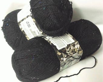 5 balls of yarn 100 GM with clouded sequins
