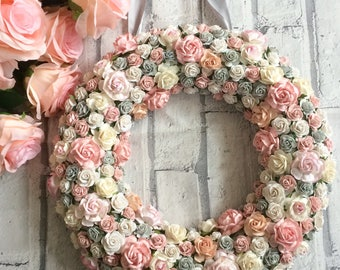 Custom made floral wreath// nursery decor // home decor
