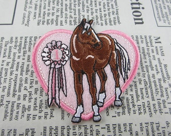 Horse Embroidered Badge Iron On Patch