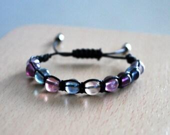 Fluorite bracelet , Gift womans , Healing bracelet , Beaded bracelet , Gift for girlfriend , Fluorite woman , Gift for sister