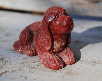 Dog Gemstone-very fine handmade from the 70s-