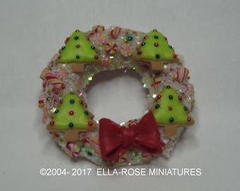 12th scale handcrafted miniature Candy Wreath
