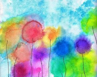 Watercolor Flowers Fine Art Print