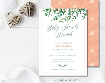 Jade & Poppy Baby Shower Invitations