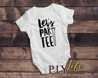 Baby |  Let's Par-tee Golf Baby Bodysuit DTG Printing on Demand