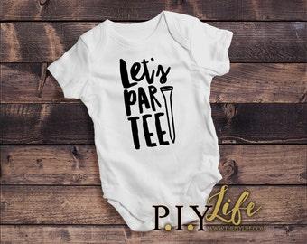 Kids |  Let's Par-tee Golf Kids Bodysuit DTG Printing on Demand
