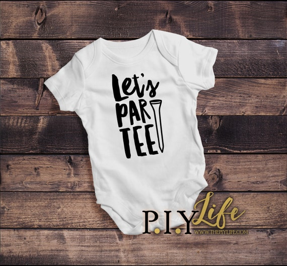 Baby let 39 s par tee golf baby bodysuit dtg printing on for Name brand golf shirts direct