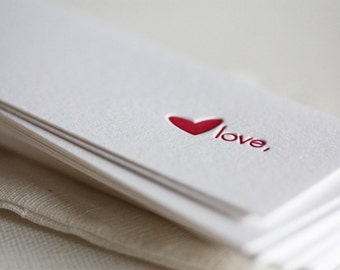 letterpress love gift tags
