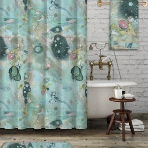 ocean shower curtain etsy bathroom beach theme pics bathroom beach theme ideas