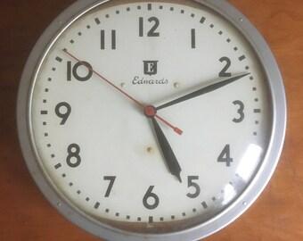 """Vintage 12"""" 1962 Edwards Clock."""