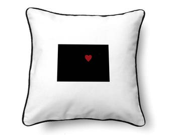 Colorado Pillow - Colorado Gift - Colorado Map - CO State Map