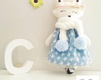 Adorable little cloth Fox doll / rag doll