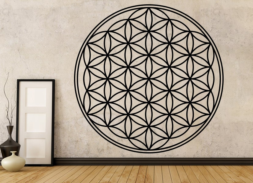 ?zoom & Flower Of Life Decal Boho Decals Vinyl Mandala Decal Flower