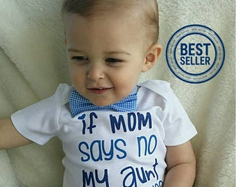 Aunt Baby Clothes, Nephew Gift, Aunt Shirts, I Love My Aunt Shirt, Baby Gift For Nephew, Baby Boy Clothes, Funny Aunt Baby Outfit, Liv & Co.