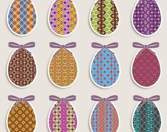 Pattern paper textures digital Easter egg print quality scrapbooking collage instant download diy France