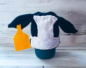 Dairy Cow Hat - Dairy Cow - Cow - Hat - Bovine - Farm Animal - Barnyard Animal - Farm - Barnyard - Newborn - Photo Prop